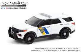 Ford  - Police Interceptor Utility 2021 white - 1:64 - GreenLight - 28060F - gl28060F | Toms Modelautos