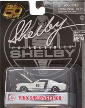 Shelby  - GT350R #98 1965 white/blue - 1:64 - Shelby Collectibles - shelbyGT350R-98 | Toms Modelautos