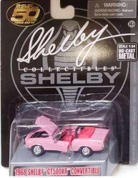 Shelby  - GT500KR 1968 pink - 1:64 - Shelby Collectibles - shelbyGT500KR | Toms Modelautos