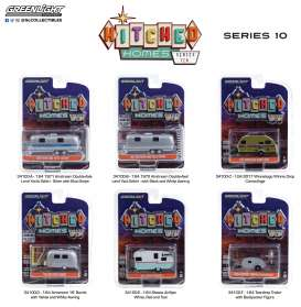 Assortment/ Mix  - Hitched homes series 10 various - 1:64 - GreenLight - 34100 - gl34100 | Toms Modelautos