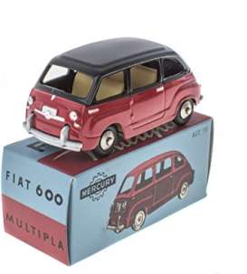 Fiat  - 600 Multipla red/black - 1:43 - Magazine Models - magMY600 | Toms Modelautos