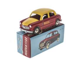 Fiat  - 1100 Nuova red/yellow - 1:43 - Magazine Models - magMY1100 | Toms Modelautos