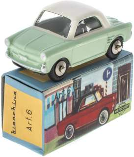 Autobianchi  - Bianchina light green/white - 1:43 - Magazine Models - magMYbianchi | Toms Modelautos