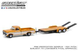 Ford  - F-150 1976 orange/white - 1:64 - GreenLight - 32220B - gl32220B | Toms Modelautos