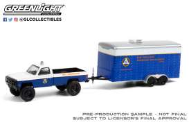 Chevrolet  - M1008 1987 blue/white - 1:64 - GreenLight - 32220C - gl32220C | Toms Modelautos