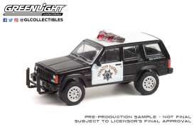 Jeep  - Cherokee 1993 black/white - 1:64 - GreenLight - 42960B - gl42960B | Toms Modelautos