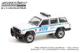 Jeep  - Cherokee 1993 white - 1:64 - GreenLight - 42960C - gl42960C | Toms Modelautos