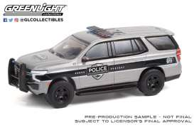 Chevrolet  - Tahoe 2021 grey/black - 1:64 - GreenLight - 42960F - gl42960F | Toms Modelautos