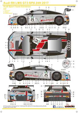 Audi  - R8 LMS GT3 2015  - 1:24 - S.K. Decals - 24108 - SK24108 | Tom's Modelauto's