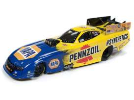 Dragster  - 2019 yellow/blue - 1:24 - Auto World - CP7553 - AWCP7553 | Toms Modelautos
