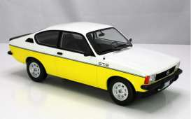 Opel  - Kadett 1977 white/yellow - 1:18 - Norev - 183650 - nor183650 | Toms Modelautos