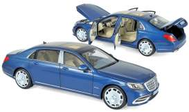 Mercedes Benz  - Maybach 2018 light blue metallic - 1:18 - Norev - 183425 - nor183425 | Toms Modelautos