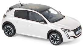 Peugeot  - 2019 pearl white - 1:43 - Norev - 472833 - nor472833 | Toms Modelautos
