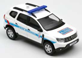 Dacia  - Duster 2018 white/blue - 1:43 - Norev - 509011 - nor509011 | Toms Modelautos
