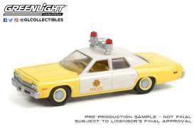 Dodge  - Monaco 1974 yellow/white - 1:64 - GreenLight - 42960A - gl42960A | Toms Modelautos