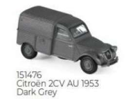 Citroen  - 2cv 1953 dark grey - 1:87 - Norev - 151476 - nor151476 | Toms Modelautos