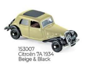 Citroen  - 1934 beige/black - 1:87 - Norev - 153007 - nor153007 | Toms Modelautos