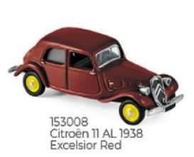 Citroen  - 1938 red - 1:87 - Norev - 153008 - nor153008 | Toms Modelautos