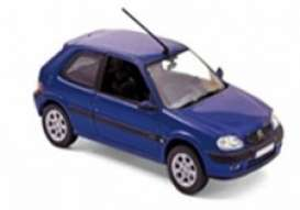 Citroen  - saxo 2000 blue - 1:43 - Norev - 155158 - nor155158 | Toms Modelautos