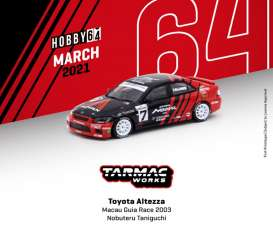 Toyota  - Altezza  2003 red/black - 1:64 - Tarmac - T64-019-03MGP07 - TC-T64-01903MGP07 | Toms Modelautos