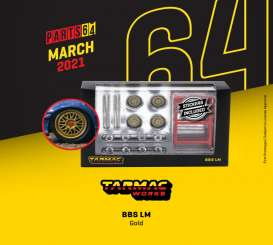 Rims & tires Wheels & tires - BBS gold - 1:64 - Tarmac - T64W-001-CE - TC-T64W001CE | Toms Modelautos