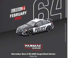 Mercedes Benz  - C63 AMG black - 1:64 - Tarmac - T64G-009-PC - TC-T64G009PC | Toms Modelautos