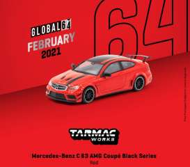 Mercedes Benz  - C63 AMG red - 1:64 - Tarmac - T64G-009-RE - TC-T64G009RE | Toms Modelautos