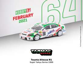 Toyota  - Altezza  1999 white/green - 1:64 - Tarmac - T64-019-99ST36 - TC-T64-01999ST36 | Toms Modelautos