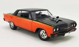 Chevrolet  - Chevelle SS *Drag Outlaws* 1965 orange/black - 1:18 - Acme Diecast - acme1805309 | Toms Modelautos