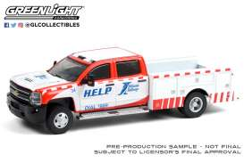 Chevrolet  - Silverado 2018 white/red - 1:64 - GreenLight - 46070D - gl46070D | Toms Modelautos