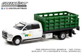 Ram  - 3500 Dually 2018 white/green - 1:64 - GreenLight - 46070E - gl46070E | Toms Modelautos
