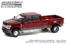 Ford  - 350 Dually 2019 red/grey - 1:64 - GreenLight - 46070F - gl46070F | Toms Modelautos