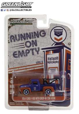 Ford  - F-100 1954 blue/orange - 1:64 - GreenLight - 41130A - gl41130A | Toms Modelautos