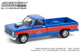 Chevrolet  - Silverado 1987 blue/red - 1:64 - GreenLight - 41130C - gl41130C | Toms Modelautos