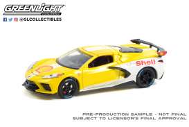 Chevrolet  - Corvette C8 2021 yellow/white - 1:64 - GreenLight - 41130E - gl41130E | Toms Modelautos