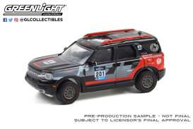 Ford  - Bronco 2021 black/white/red - 1:64 - GreenLight - 41130F - gl41130F | Toms Modelautos