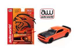 Dodge  - Challenger SRT Hellcat 2019 orange/black - 1:64 - Auto World - cp7721 - awcp7721 | Toms Modelautos
