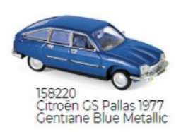 Citroen  - GS Pallas 1977 blue - 1:87 - Norev - 158220 - nor158220 | Toms Modelautos
