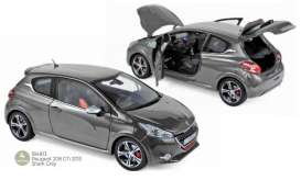 Peugeot  - 208 GTi 2013 shark grey - 1:18 - Norev - 184813 - nor184813 | Toms Modelautos