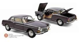 Peugeot  - 404 1967 grey - 1:18 - Norev - 184834 - nor184834 | Toms Modelautos