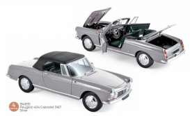 Peugeot  - 404 1967 silver - 1:18 - Norev - 184835 - nor184835 | Toms Modelautos