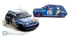 Renault  - supercinq 1990 blue - 1:18 - Norev - 185217 - nor185217 | Toms Modelautos