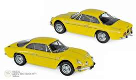 Alpine Renault - A110 1971 yellow - 1:18 - Norev - 185305 - nor185305 | Toms Modelautos