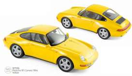 Porsche  - 911 1994 yellow - 1:18 - Norev - 187596 - nor187596 | Toms Modelautos