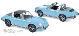 Porsche  - 911 1973 light blue - 1:18 - Norev - 187642 - nor187642 | Toms Modelautos