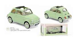 Fiat  - 500L 1968 light green - 1:18 - Norev - 187773 - nor187773 | Toms Modelautos