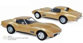 Chevrolet  - Corvette  1969 gold - 1:18 - Norev - 189031 - nor189031 | Toms Modelautos