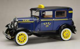 Ford  - Model A Tudor *Taxi* 1931 blue/yellow - 1:18 - SunStar - 6107 - sun6107 | Toms Modelautos