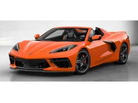 Chevrolet  - Corvette 2020 orange - 1:18 - GT Spirit - 309 - GT309 | Toms Modelautos