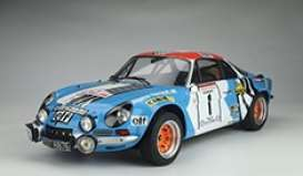 Alpine  - A110 2019 blue/red/white - 1:8 - GT Spirit - GTS800702 - GTS800702 | Toms Modelautos